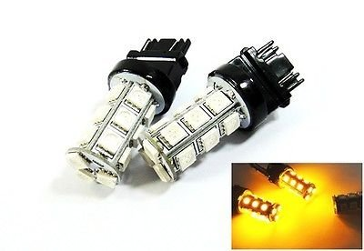 LEDIN 2x Amber High Power 18 SMD LED Front Turn Signal Light 3157 3156 3457 4157 (2000 Tahoe Front Lights compare prices)