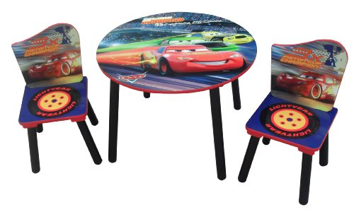 Discney Cars Table and Two Chairs