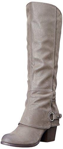 Fergalicious Women's Lexy Wide Calf Western Boot, Grey, 7.5 M US