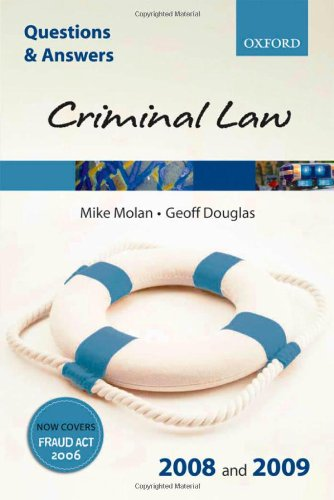 Q & A: Criminal Law 2008 and 2009
