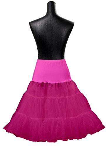 HIMRY Reifrock Unterrock Petticoat Knielang für Kleid Ballkleid Abendkleid Brautkleid, One Size, für Gr.34 bis Gr. 44, verschiedene Farben, KXB-0007