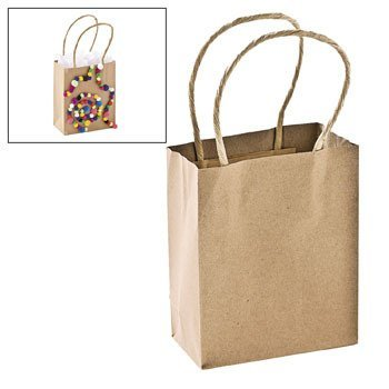 Small Craft Gift Bags - Party Favor & Goody Bags & Paper Goody Bags & Boxes (Mini Shopping Bags compare prices)