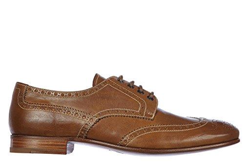 Prada scarpe stringate classiche uomo in pelle nuove derby vintage calf marrone EU 42 2EA039 8QW F0594