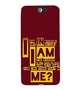 printtech Breaking Quote Bad Back Case Cover for HTC One A9