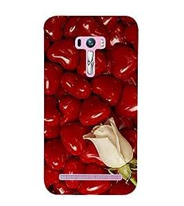 Vizagbeats White Roses Back Case Cover for Asus Zenfone Selfie::Asus Zenfone Selfie ZD551KL