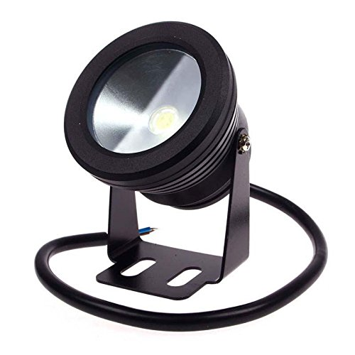 Fashion Cute 10W Led Black Pure White Underwater Spot Light Pool Pond Aquarium Lamp 12V Ip68