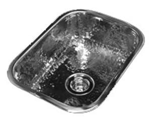 "Gemini Rectangle Bar Sink: RC122 Flat Bottom - 13 1/4"" x 10"" (Brushed Stainless Steel)"