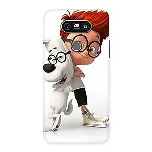 Premium Boy and Spec Dog Multicolor Back Case Cover for LG G5