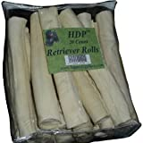 "Retriever Rolls Rawhide 9-10"" Pack of 20 NOT MADE IN CHINA"