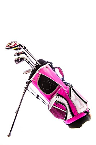 Beginners Girls Right Handed Pink Golf Set:lady E 7 Pcs Club Set Ages 6 - 10 Rh