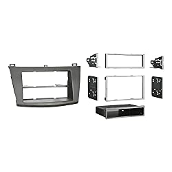 See Metra 99-7514B Single or Double DIN Installation Dash Kit for 2010 Mazda 3, Painted Matte Black to Match Dash (Black) Details