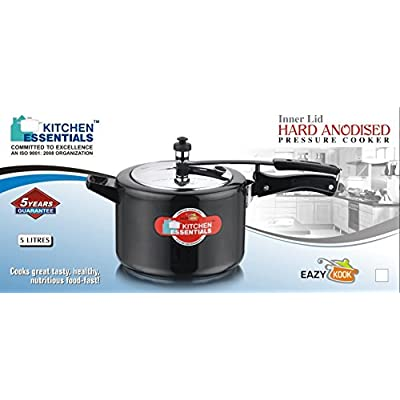 Kitchen Essentials Hard Anodised Induction Base Eazy Kook Pressure Cooker 5 Litre