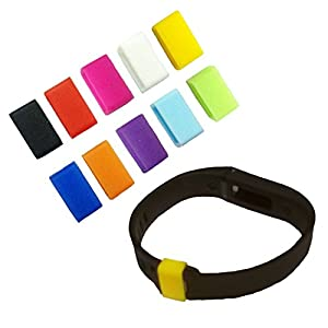 Xgeek® [10 Pack] Silicone Fasteners Clips Clasps for Both Small and Large Size Fitbit Flex Wristband