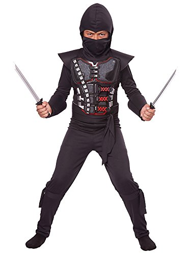 California Costumes Child Stealth Ninja Battle Armor Kit,Black/Silver/Red,One Size (Ninja Armor Costume compare prices)