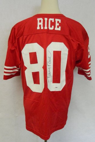 Jerry Rice Signed San Francisco 49ers Replica Jersey PSA/DNA Auto at Amazon.com