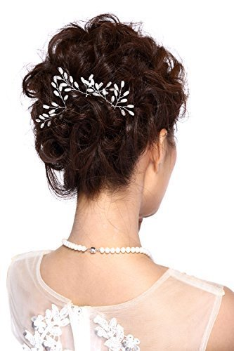 Hailie+Bridal HailieStudio Handmade Women's Wedding Bridal Rice Pearl Hair Pins