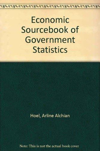 Economics Sourcebook of Government Statistics