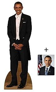 Fan Pack - President Barack Obama Tuxedo Lifesize Cardboard Cutout / Standee / Standup - Includes 8x10 (20x25cm) Photo