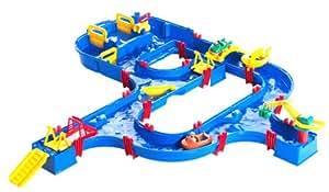 AquaPlay 640 - Kanalfahrt mit 4 Spielstationen , die Schleuse, Hafen, Marina & Fähren Station
