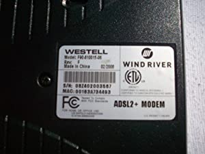 VERIZON_WESTEL 6100F DSL Modem Bridge ADSL2 F90-610015-06