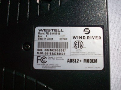 VERIZON_WESTEL 6100F DSL Modem Bridge ADSL2 F90-610015-06 (Westell Model 6100 compare prices)