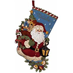 Bucilla Christmas Joy Stocking Felt Applique Kit
