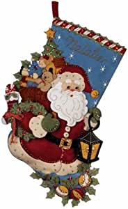 Amazon.com: Bucilla Christmas Joy Stocking Felt Applique Kit: Home