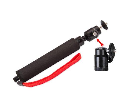 "Selfie Handheld Monopod 8-21"" Extendable Telescoping Pole For Gopro Hero 1, Hero 2, Hero 3, Hero 3+, Hero 3 Plus, Hero 4 Camera - Black"