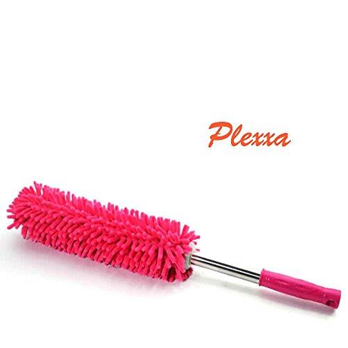 Plexxa(Tm) Standard Automobile Dust Whisk Stainless Steel Car Dust Whisk Duster-Red