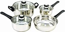 Cook N Home 7 Piece Stainless Steel Cookware Set