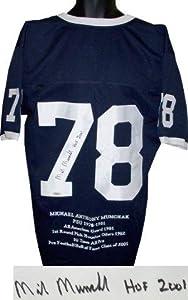 Mike Munchak Autographed Jersey - Penn State Nittany Lions Navy Custom HOF 2001 w... by Sports+Memorabilia