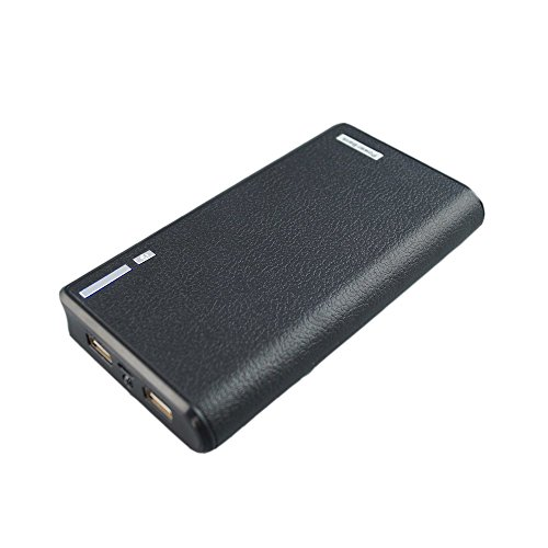 LQM 20000mAh Dual USB External Battery Backup Power Bank for Apple iPhone 6, 6 Plus 5S 5C 5 4S 4,iPad Air Mini 2, HTC One, One 2 (M8), Samsung Galaxy S6 Edge, S6 S5 S4 S3, Tab 4 3 2 Pro (black) (External Battery For Cell Phone compare prices)