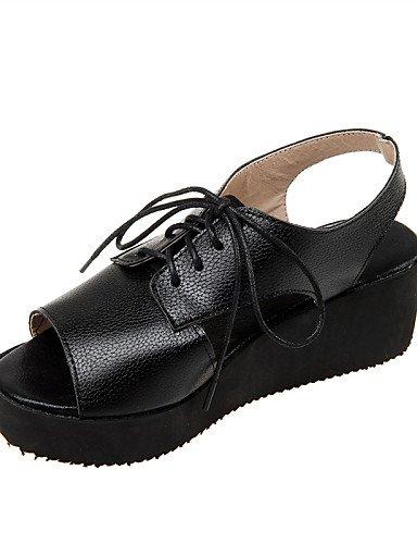 zapatos-de-mujer-tacon-bajo-punta-abierta-sandalias-casual-semicuero-negro-rosa-plata-black-us65-7-e