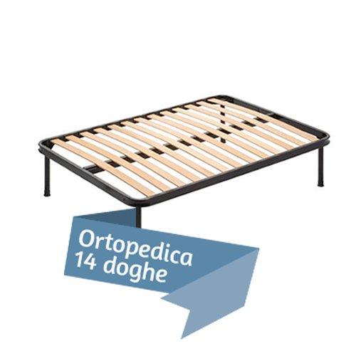 Rete a 14 Doghe di Faggio Ortopedica per Materasso una Piazza e Mezza 120 x 190 Cm