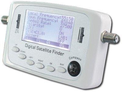 SF-500 Digital Satellite Finder Directv Dish FTA & HV Light & audio DVB-S2 and DVB-S