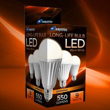 Miyatsu MT 9 Watt Dimmable LED Light Bulb - Warm White