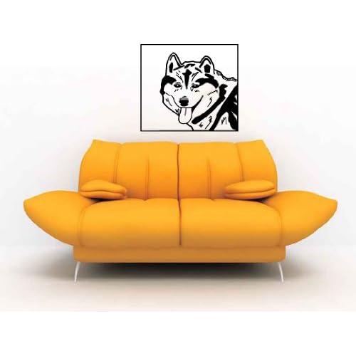 Siberian Husky Snow Dog Vinyl Wall Decal Sticker Graphic