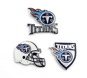NFL Tennessee Titans Three Piece Collector's Pin Set, Silver