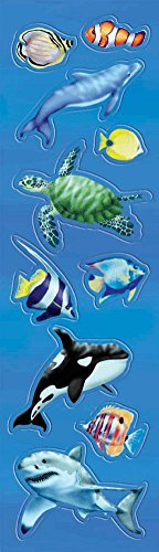 STICKER UNDER THE SEA FUN PACK 8 COUNT - 1