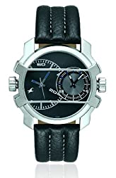 Fastrack Midnight Party Dual Time Analog Black Dial Mens Watch - 3098SL01