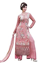 Namrah Collection Women's Georgette Embroidered (4447, Pink)