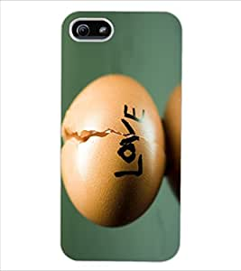 ColourCraft Creative Love Image Design Back Case Cover for APPLE IPHONE 5S