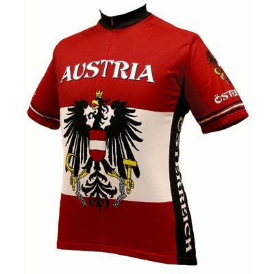 Buy Low Price World Jersey's Men's Austria Short Sleeve Cycling Jersey (B001GDUM8A)