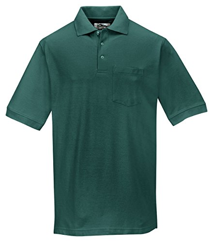 Tri-Mountain Men'S Big And Tall Baby Pique Polo Shirt, Forest Green, 2Xl front-799325
