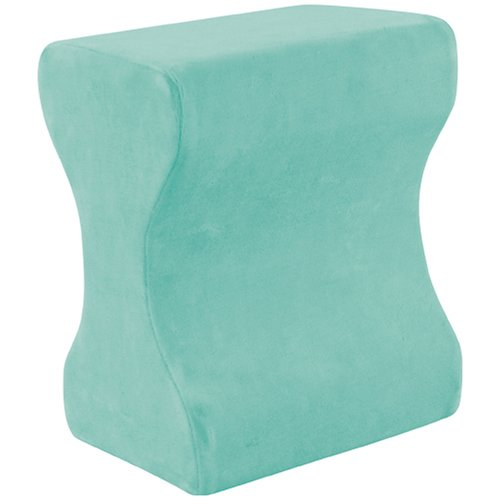 Fantastic Deal! Contour Memory Foam Leg Pillow with Cover, Green