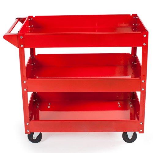 Tectake carrello portautensili a 3 piani carrello da for Piani di officina distaccati