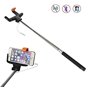 cradles mounts stands mudder selfie stick selfie pole extendable wired cable control. Black Bedroom Furniture Sets. Home Design Ideas