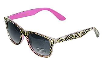 Wayfarer Style Women's Sunglasses with Wayfarer Frames in Fun Colors and Animal Prints - Smoke Lense Sunglasse