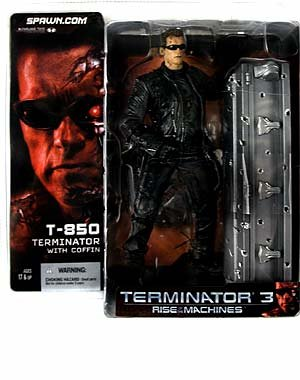 Picture of McFarlane T3: Rise of the Machines : T-850 Terminator with Coffin Action Figure (B000EVKG7C) (McFarlane Action Figures)