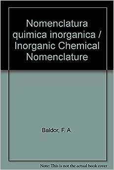 Nomenclatura quimica inorganica / Inorganic Chemical